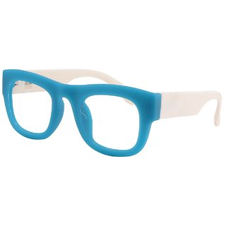 Buy Comfortsight Matte Blue White Polycarbonate Eye Glass Frame For