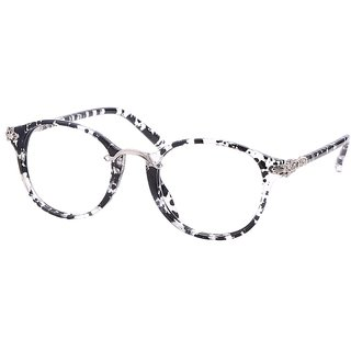 Buy Comfortsight Black Silver Polycarbonate Eye Glass Frame For