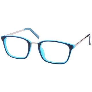 Comfortsight Blue Silver Polycarbonate Metal Eye Glass Frame For Unisex Cs9206