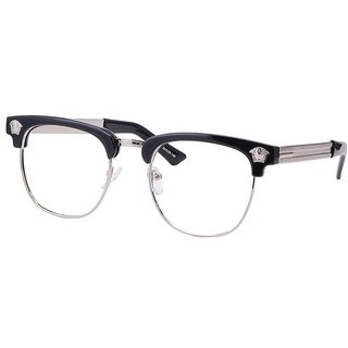 Buy Comfortsight Black Silver Polycarbonate Metal Eye Glass Frame