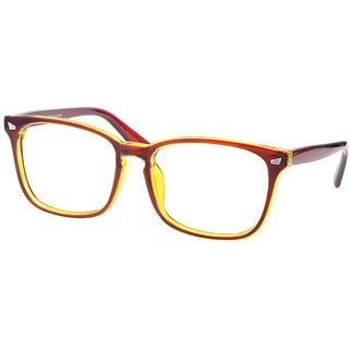 Buy Comfortsight Brown Polycarbonate Eye Glass Frame For Unisex