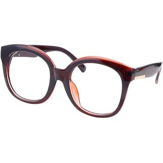 Buy Comfortsight Brown Polycarbonate Eye Glass Frame For Women