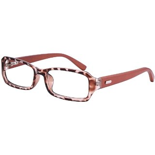 Buy Comfortsight Havana Brown Polycarbonate Wood Eye Glass Frame For