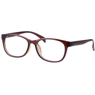 Comfortsight Brown Polycarbonate Eye Glass Frame For Unisex Cs9037