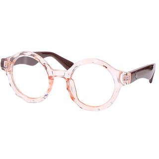 Buy Comfortsight Orange Brown Polycarbonate Eye Glass Frame For