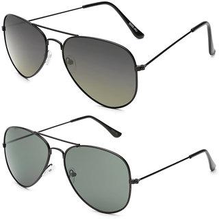54fc039557f08 Buy Gansta Gn-3002 Classy Black Aviator Sunglasses Combo Online ...