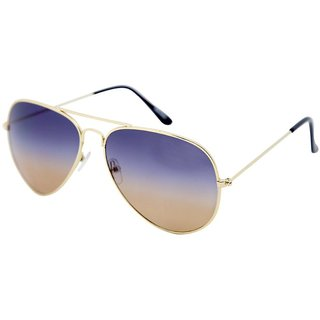 Gansta Gn1025 Stylish Golden Aviator Sunglass With Gradient Lenses