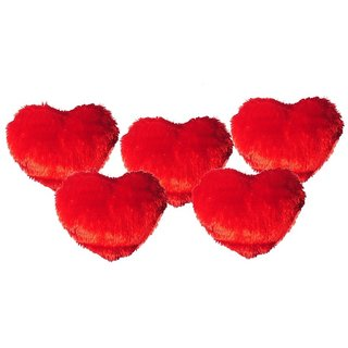 Ech oly 5 Red  heart shaped cushions