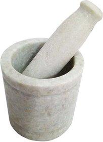 Salvus Italian Marble Handmade White Imam-Dasta (4 Inches)