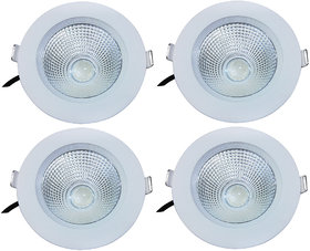 Bene LED 9w Round Ceiling Light, Color of LED White  (Pack of 4 Pcs)