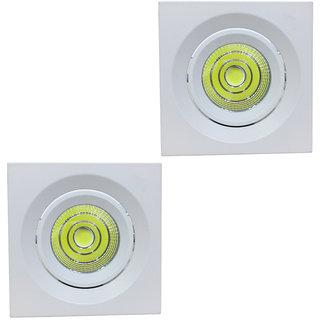 Bene COB 7w Square Ceiling Light, Color of COB Warm White (Yellow)