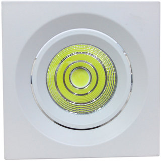 Bene COB 7w Square Ceiling Light, Color of COB White