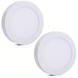 Bene LED 24w Round Surface Panel Ceiling Light, Color of LED White (Pack of 2 Pcs)
