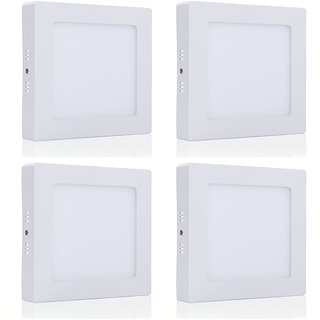 Bene LED 6w Square Surface Panel Ceiling Light, Color of LED White (Pack of 4 Pcs)