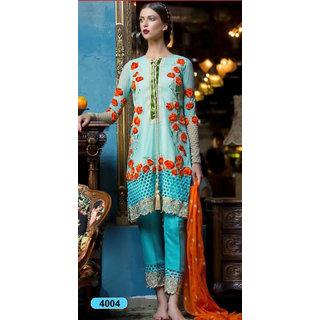 Trendz Apparels Blue Georgette Straight Fit Salwar Suit