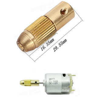 Electric Drill Bit Collet Micro+ Motor Combo Pack +Twist Drill Chuck Set 0.5-3mm