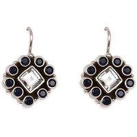Silverwala Cubic Zirconia, Sapphire Silver Dangle Earring (TRS3653A)