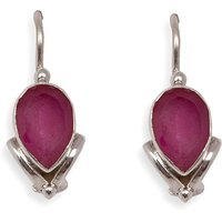 Silverwala Ruby Silver Dangle Earring (TRS3681A)
