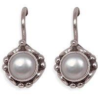 Silverwala Pearl Silver Dangle Earring (TRS3681)