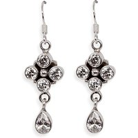 Silverwala Cubic Zirconia Silver Dangle Earring (TRS3687)