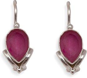 Silverwala Ruby Silver Dangle Earring (TRS3681A)