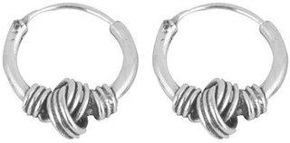 Silverwala Shinny Ring Silver Hoop Earring (BLP449B)