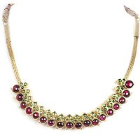 Silverwala Spinel Yellow Gold Plated Silver Necklace (TJS57)