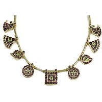 Silverwala Spinel Yellow Gold Plated Silver Necklace (TJS58)