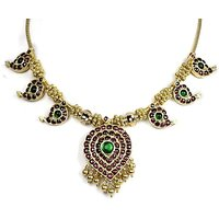 Silverwala Spinel Yellow Gold Plated Silver Necklace (TJS87)