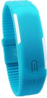 Jack Klein Silicone Blue Digital Round Wrist Watch