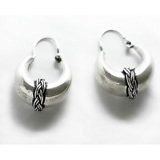 Silverwala Thick Silver Hoop Earring Blplsl0000000051