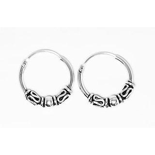 Silverwala Classic Bali Silver Hoop Earring (BLPLSL00000000079)