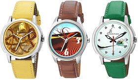 Jack Klein Round Dial Black Leather Strap Quartz Watch