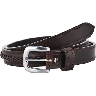 STERLING GERMANY For Women Dress Brown Leather V- Braiding Belt