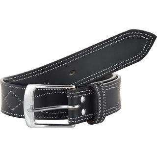 STERLING GERMANY Men Black Genuine Leather Belt