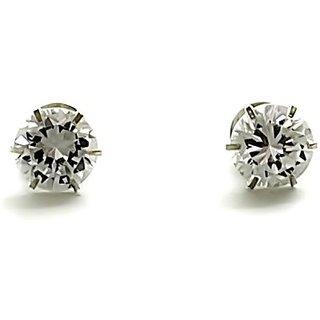 Silverwala Brilliant Cut Cubic Zirconia Silver Stud Earring (ST1487)