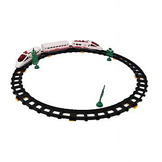 Battery Operated Express Train Set With Track For Kids