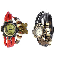 Jack Klein Combo Of Synthetic Leather Multicolor Analog Round Wrist Watch For Women