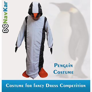 Penguin Child Fancy Dress Costumes For Competitions Large Size 9 - 11 Years