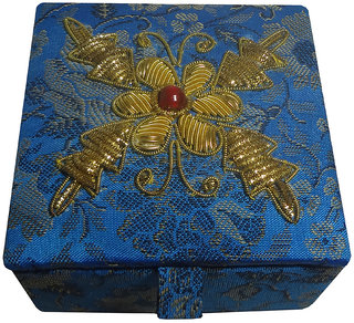Avinash Handicrafts Jewellery Box 7.5x7.5 cm Blue
