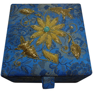 Avinash Handicrafts Jewellery Box 10x10 cm Blue