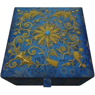 Avinash Handicrafts Jewellery Box 12.5x12.5 cm Blue
