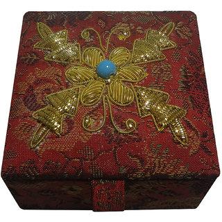 Avinash Handicrafts Jewellery Box 7.5x7.5 cm Red