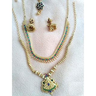 Buy 1 Gram Gold Jewellery Set For Wedding Online   ₹1999 from ShopClues bdf3987e83