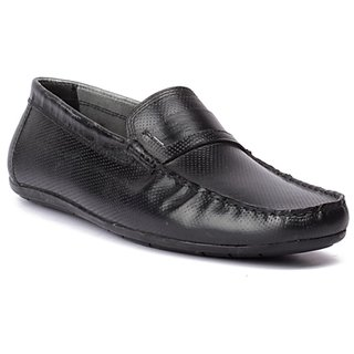 FLOURISH Grey Burnish Color Genuine Leather Driving Shoes