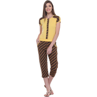 TAB91 Yellow Casual Jumpsuits For Women