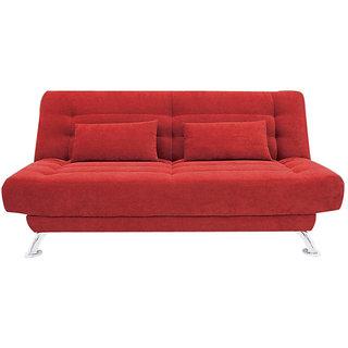 Estilo Sofa Cum Bed ( Plain Red)