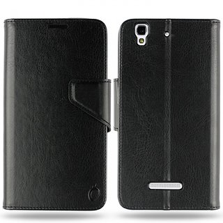 Cool Mango Business Premium Faux Leather Flip Case for Micromax Yu Yureka Plus