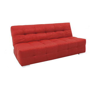 Krystal Sofa Cum Bed ( Electric Red)