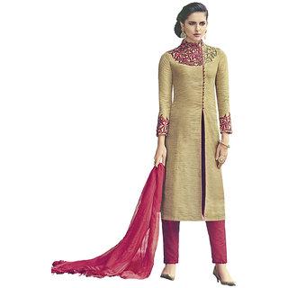 Heart N Soul Designer Wedding Party Wear Fully Stitched Embroidery Designer Salwar Suits Dupatta L Size For Girl Brown
